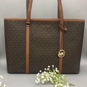 Michael Kors LG Sady Laptop Tote Bag Brown